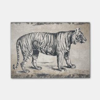 Tiger Vintage Wildlife Grunge Decorative Post-it Notes