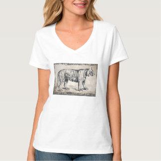 Tiger Vintage Wildlife Grunge Decorative T-Shirt
