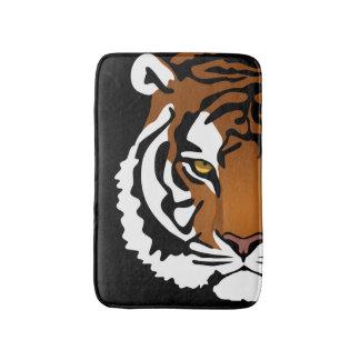 Tiger, Wild Cat on Black Bath Mat