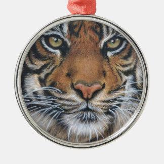 Tiger Wildlife Animal art Metal Ornament