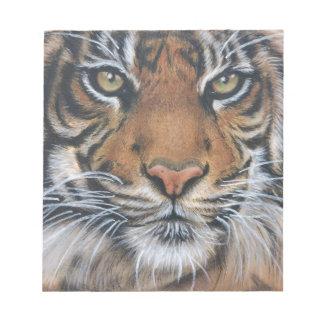 Tiger Wildlife Animal art Notepad