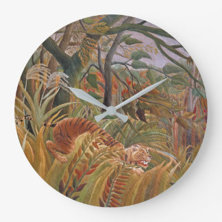 Tiger Wildlife Jungle Rousseau Animal Wall Clock