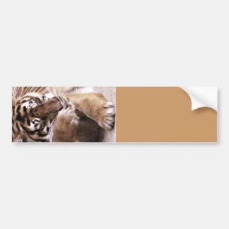 Tiger with a heart_ bumper sticker