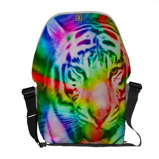 Tiger with colors Rickshaw Messenger Bag