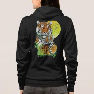 Tiger with Cub Zip Hoodie