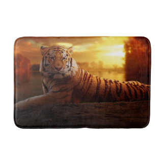 Tiger with Sunset Bath Mat