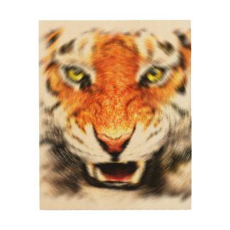 Tiger Wood Wall Art Wood Prints