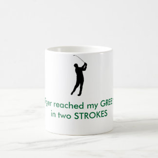 TIGER WOODS - Tiger reached my GREENin two STROKES Coffee Mug