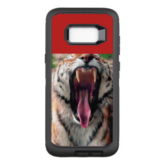 Tiger yawn, tongue, fangs OtterBox defender samsung galaxy s8+ case