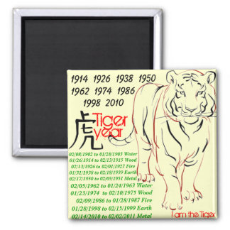 tiger year magnet