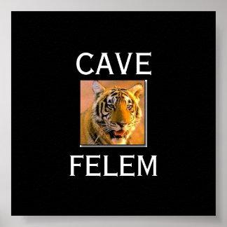 TIGERBeware  Of The Cat - In Lati.... - Customized Poster