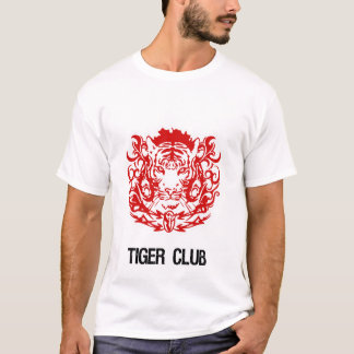 TIGERCLUBLOGOREDAND WHITE T-Shirt