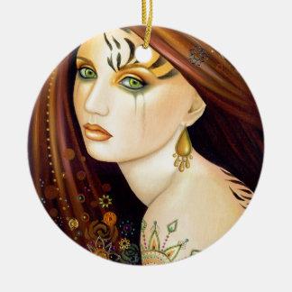 Tigerlily Ceramic Ornament