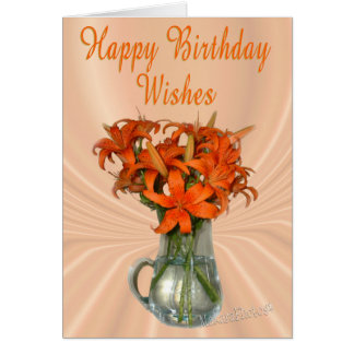 TigerLilyBday-customise Card