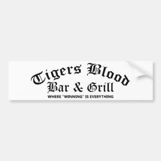 Tigers Blood Bar & Grill Bumper Sticker