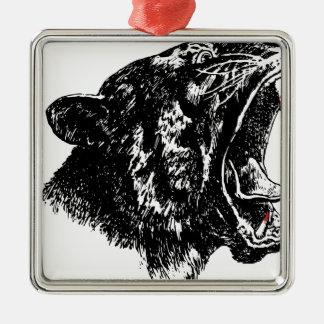 Tiger's Blood Silver-Colored Square Decoration