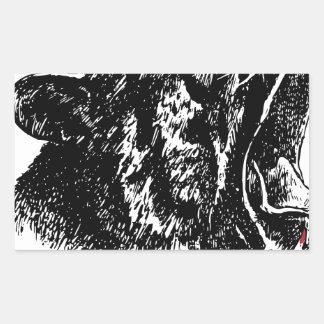 Tiger's Blood Rectangular Sticker