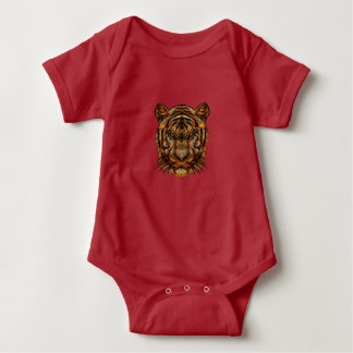 Tiger's Head 1a Baby Bodysuit