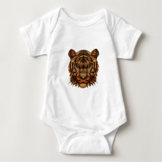 Tiger's Head 1a Baby Bodysuit
