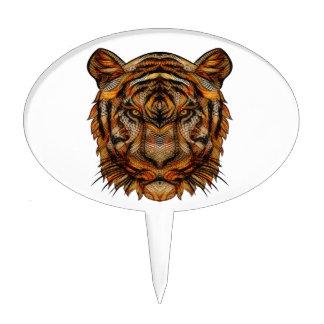 Tiger's Head 1a Cake Topper