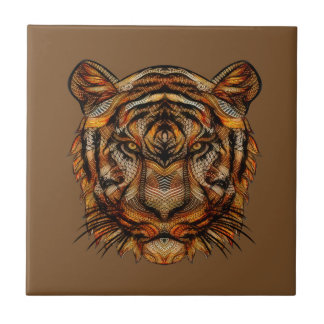 Tiger's Head 1a Ceramic Tile