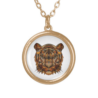 Tiger's Head 1a Gold Plated Necklace