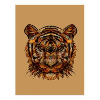 Tiger's Head 1a Postcard