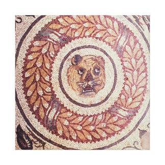 Tiger's head, Roman mosaic, early 4th century Gallery Wrap Canvas