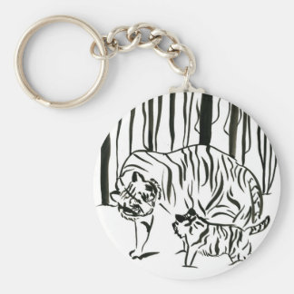 Tigers in the Forest Key Chain