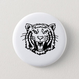 Tigers Outline 6 Cm Round Badge