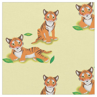 Tigers Playing Fabric