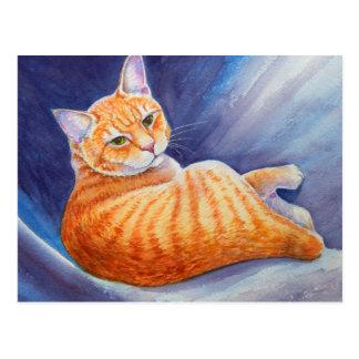 Tigg the Orange Tabby Cat Postcard