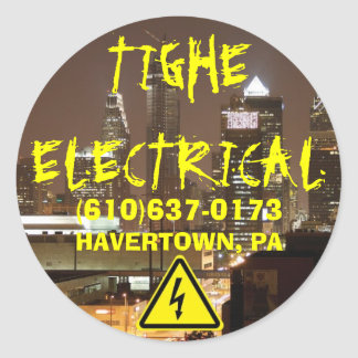 TIGHE ELECTRICAL, ... CLASSIC ROUND STICKER