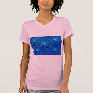 Tight blue formation photo t-shirt