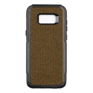Tight Brown Basket Weaving Pattern OtterBox Commuter Samsung Galaxy S8+ Case