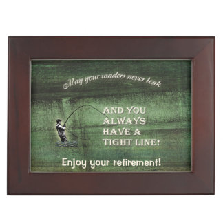 Tight line | waders never leak, Fly fishing wish Memory Boxes