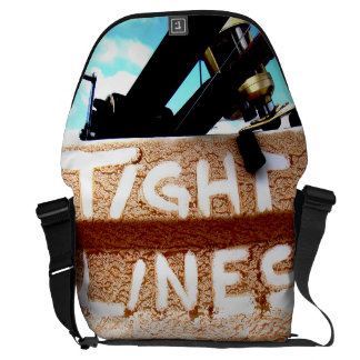 Tight Lines fishing rod fishing reel clouds Commuter Bags