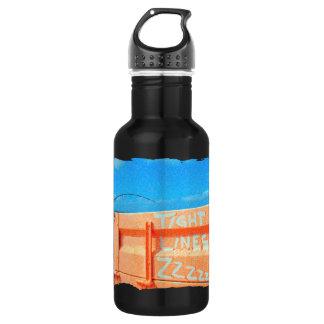 Tight Lines zz blue orange sky fishing rod fishing 532 Ml Water Bottle