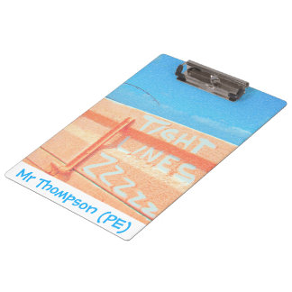Tight Lines zz blue orange sky fishing rod fishing Clipboards