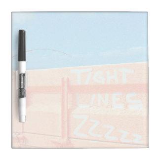 Tight Lines zz blue orange sky fishing rod fishing Dry Erase Boards
