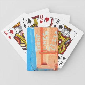 Tight Lines zz blue orange sky fishing rod fishing Playing Cards