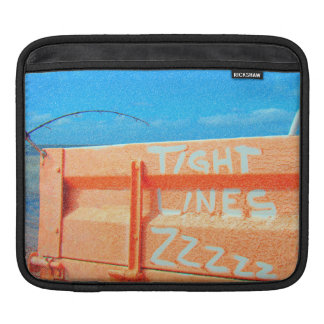 Tight Lines zz blue orange sky fishing rod fishing Sleeves For iPads
