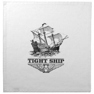 tight ship of sailing napkin