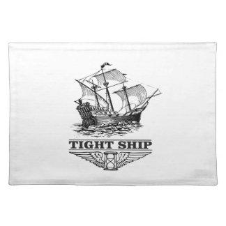 tight ship of sailing placemat