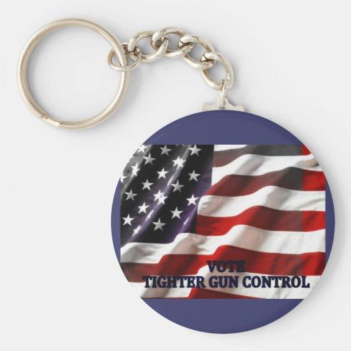 Tighter Gun Control Key Chain