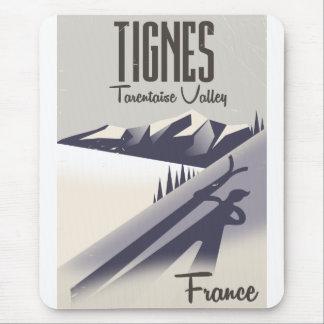 Tignes, France ski travel poster Mouse Pad