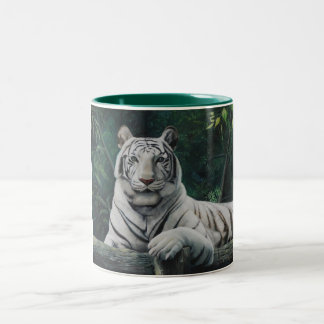 tigre blanco Two-Tone coffee mug
