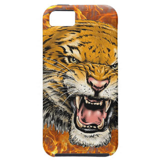 tigre en flamme étui iPhone 5