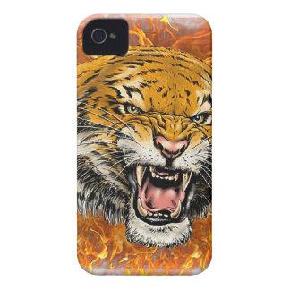 tigre en flamme coques iPhone 4 Case-Mate