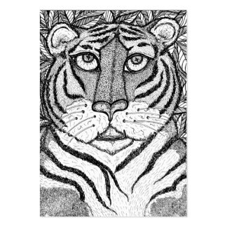 """Tigress Soul"" ACEO Art Trading Card Pack Of Chubby Business Cards"